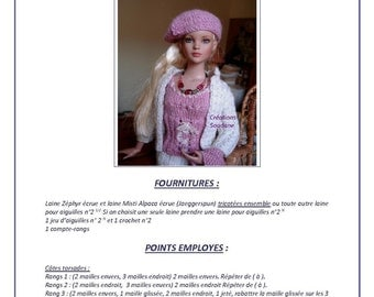 """18.  Only  French INSTANT DOWNLOAD PDF knitting Pattern pour Tonner fashion dolls 16"""""""
