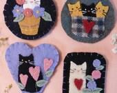 Cute Cats Wool Pins PDF Pattern