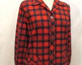 Vintage 50s 49er Jacket ML MacDuff Tartan by Bobbie Brooks