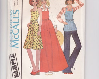 Vintage Sewing Pattern 1970's Butcher Apron McCall's Sample - Free Pattern Grading E-book Included