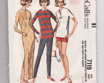 Vintage Sewing Pattern Misses Shorts, Maxi Dress and Top McCall's 7119 30 1/2 Bust - With Free PatternG rading E-Book Included