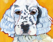 English Setter No. 4 -  magnets, coasters and art prints