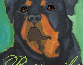 Rottweiler No. 1 - magnets, coasters and art prints
