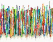 Modern Abstract Painted Wood Original Wall Sculpture - Life Experience no1- Paint on Wood Original Wall Sculpture - by Rosemary Pierce