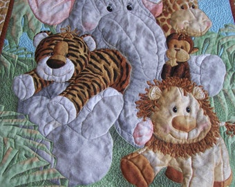 Baby Quilt Jungle Babies Animals
