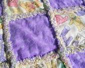 Lovey Rag Quilt for Baby Ready To Ship