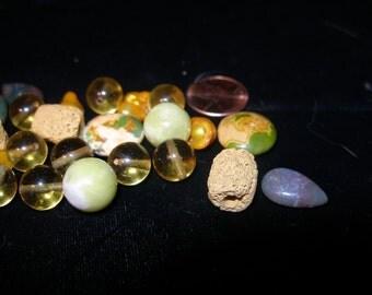 Semiprecious stone beads (24), golden assortment   Team ESST, paganteam, OlympiaEtsy, etsyBuddhists, etsyBead, GirlGeeks, WWWG