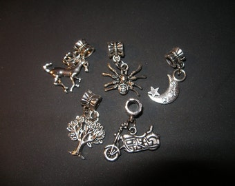 Eurostyle  big hole beads or charms (6) you choose     Team ESST, WWWG, paganteam, OlympiaEtsy, CouchSurfingTeam, SupportingArtists,