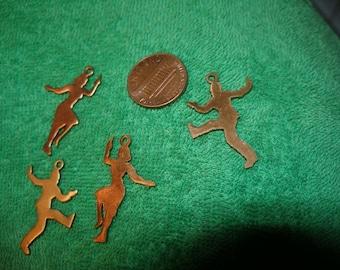BARGAIN Vintage dancing man charms (12)  paganTeam, trashionteam, OlympiaEtsy, TeamESST, CouchSurfingTeam