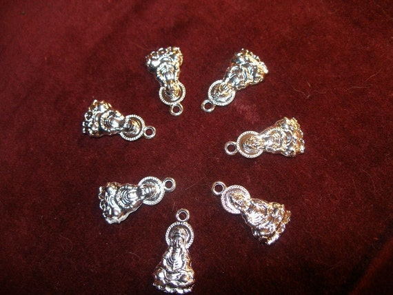 FINALLY BaCK in SToCK  Kwan Yin charms pendants  - mercy and compassion - 12 - silver   TeamESST, OlympiaEtsy, etsyBuddihists, WWWG