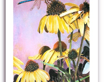 """Dragonfly Art """"Dragonfly Quest"""" Prints Signed and Numbered"""
