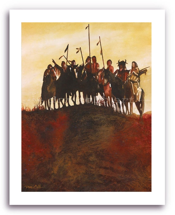 Native American Crow Indians Art Prints Signed and Numbered