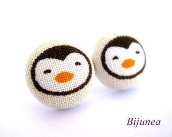 Penguin earrings - Penguin stud earrings - Penguin studs - Penguin post earrings - Penguin posts sf660