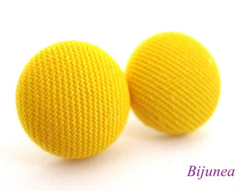 Yellow earrings - Yellow stud earrings - Yellow studs - Yellow posts - Yellow post earrings sf1006