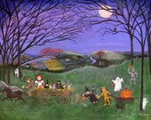 Print 11x14 - Halloween Hayride