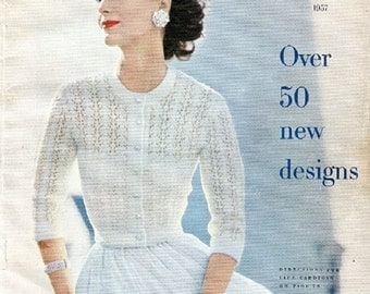 1957 Vogue Knitting Book PDF--Cover Pattern ONLY