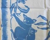 Koala vintage tablecloth, Mint, Fifties, Unique
