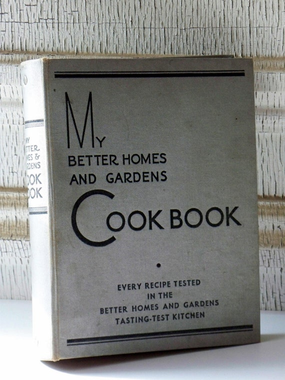 1935 My Better Homes and Gardens Cook Book