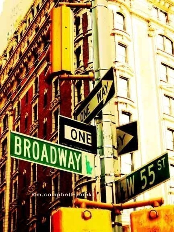 NYC Photography New York City Photograph Broadway & 55th