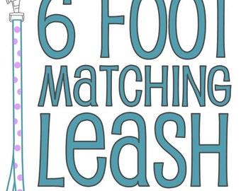 Matching 6-Foot Dog Leash