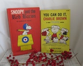 Vintage First Edition 1966 Snoopy And The Red Baron Classic Hard Cover Book