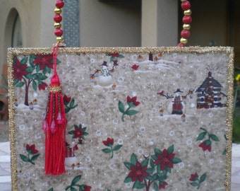 CHRISTMAS SNOWMAN Cigar Box PURSE