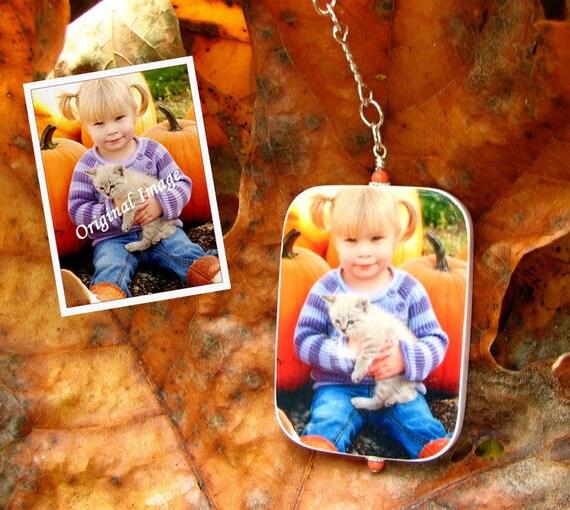 Custom Photo Ornament - Personalized Christmas Tree Decoration - Small - O3Rec-a