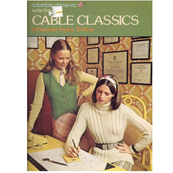 Sweaters and cardigans for women - Vintage knitting patterns 1973