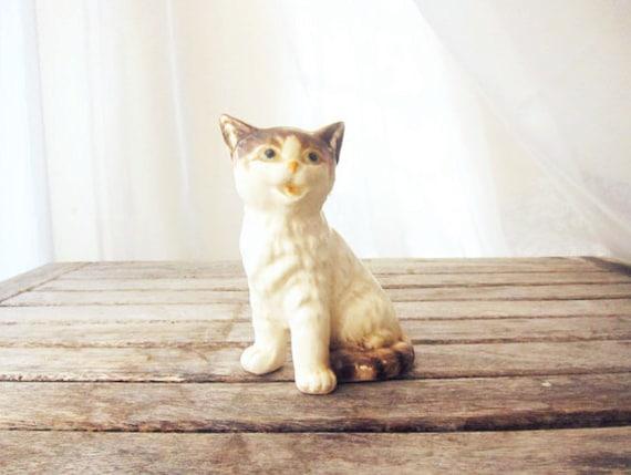 Vintage Ceramic Kitten - Kitschy Cat Figure
