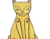 kitty cat moveable paper doll (in yellow)
