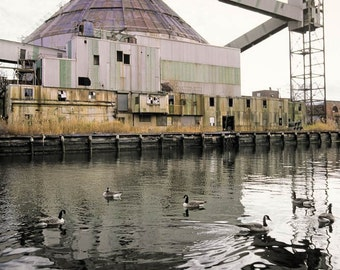 Swan song, Old Revere Sugar Factory in Red Hook Brooklyn, Historic Icon demolished in 2006, Fine Art Photography Print, signed.