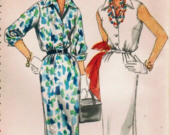 1950s Simplicity 1114 UNCUT Vintage Sewing Pattern Misses' Slim Dress, Sheath Size 12 Bust 30