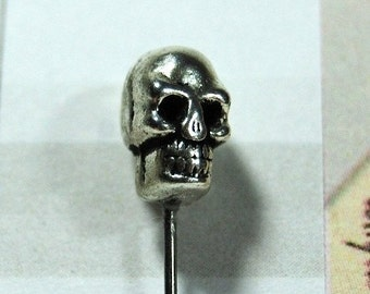 Skull Pin Topper Silver