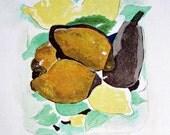 vintage Braque Lemons print - (Les Citrons) Georges Braque