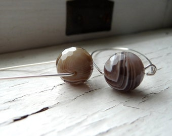 botswana agate box earrings