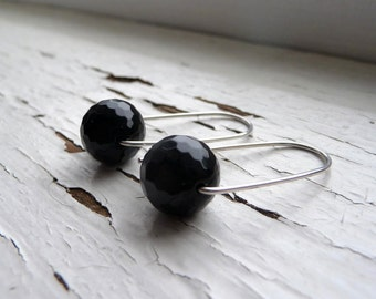 onyx box earrings : small