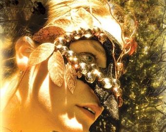 CLEARANCE - The Jabberwocky - 8x10 Fine Art Photography Print Golden Amber Fantasy Literature Art