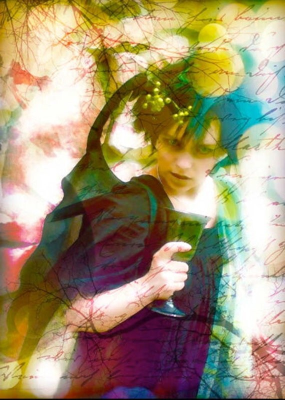 CLEARANCE - The Wicked Fairy - Dark Fairy Tale 5x7 Fine Art Photography Print of the Sleeping Beauty Story