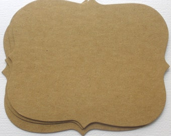 ORNATE NOTES  - Journal Spots - Bare CHiPBOARD Die Cuts
