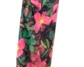 "SILK SCARF  -  ""Wild Rose""  Fine Art Pink Wild Flower Image on Habotai Silk   -  14"" x 72"" - wearable art"