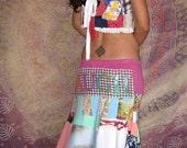CUSTOM Made to Order LOVE Long Hippy Vintage Patchwork Quilt Skirt