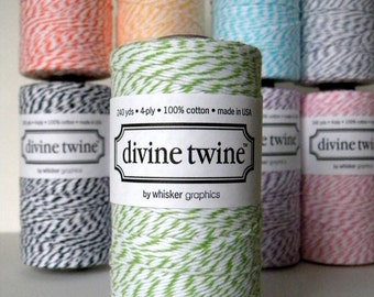 Green Baker's Twine, 240 Yards, 720 Feet