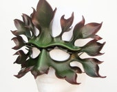 Greenman - custom made - leather mask - leaf, tree, forest spirit, autumn, wiccan