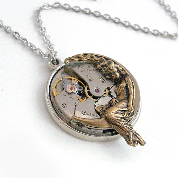 Time for Romance - Steampunk Pendant