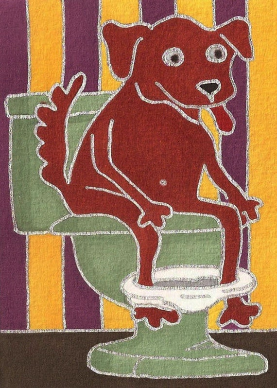 Trained Puppy by David Venne mono deluxe Needlepoint Canvas