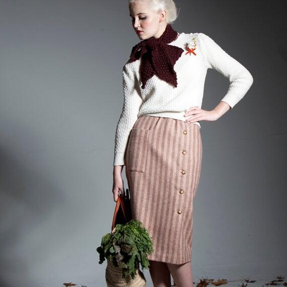 Pencil Skirt - 'Pine Needles and Pinwheels' skirt in Tweed Stripe