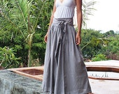 Wide Pants cotton mixed with silk in 2 sizes (244)