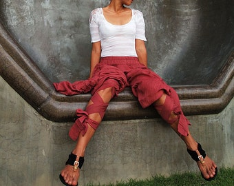 Swirl Funky harem pants...Mix silk available in all color /Funky pants /hippie pants / long pants /  (3 sizes M,L,XL)(1128)