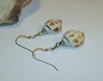Seashore Sea Shell Earrings Summer Beach Wear Sand Waves
