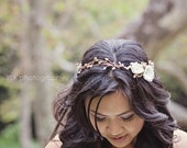floral headband - bridal halo